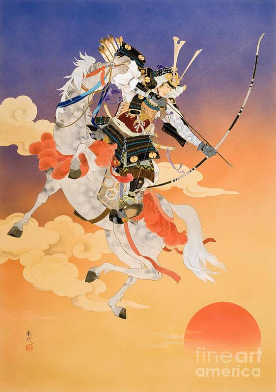 Adult Print featuring the digital art Rakujitsu by Haruyo Morita