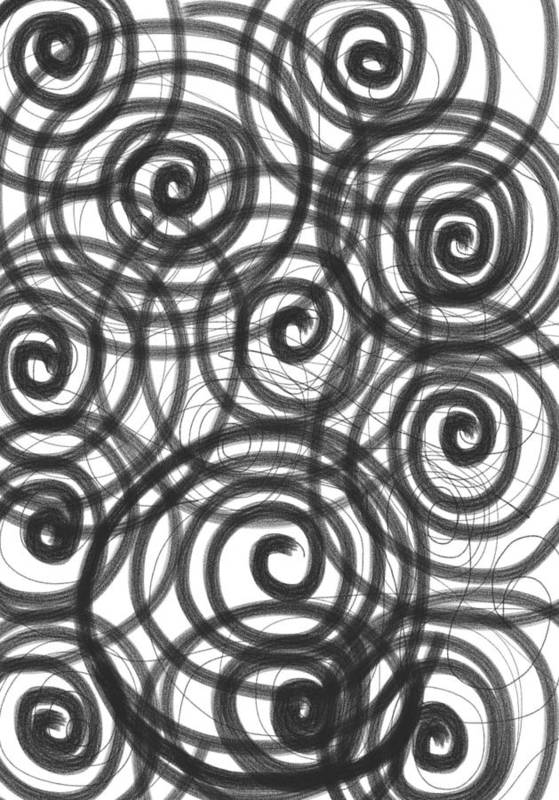 Spiral Print featuring the painting Spirals Of Love by Daina White