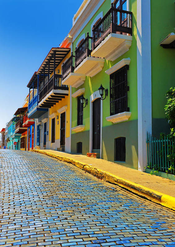 Old San Juan Print featuring the photograph Streets Of Old San Juan by Stephen Anderson
