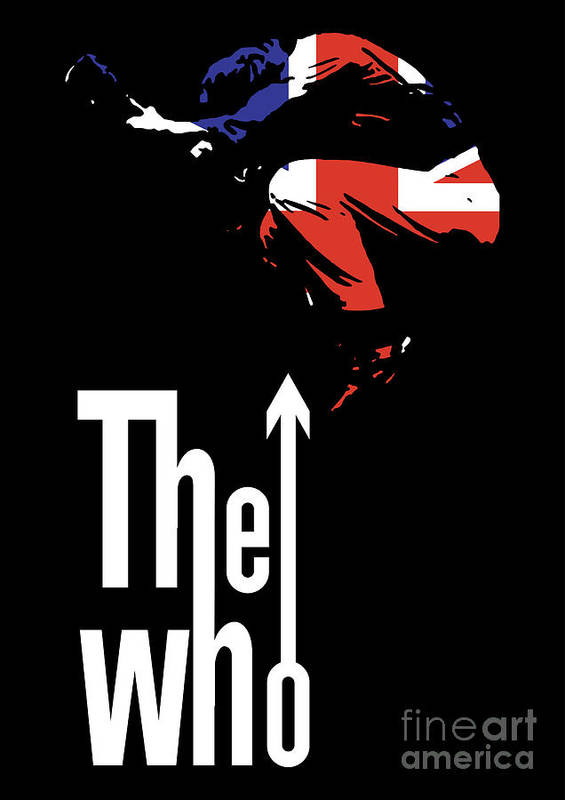 The Who Print featuring the digital art The Who No.01 by Caio Caldas