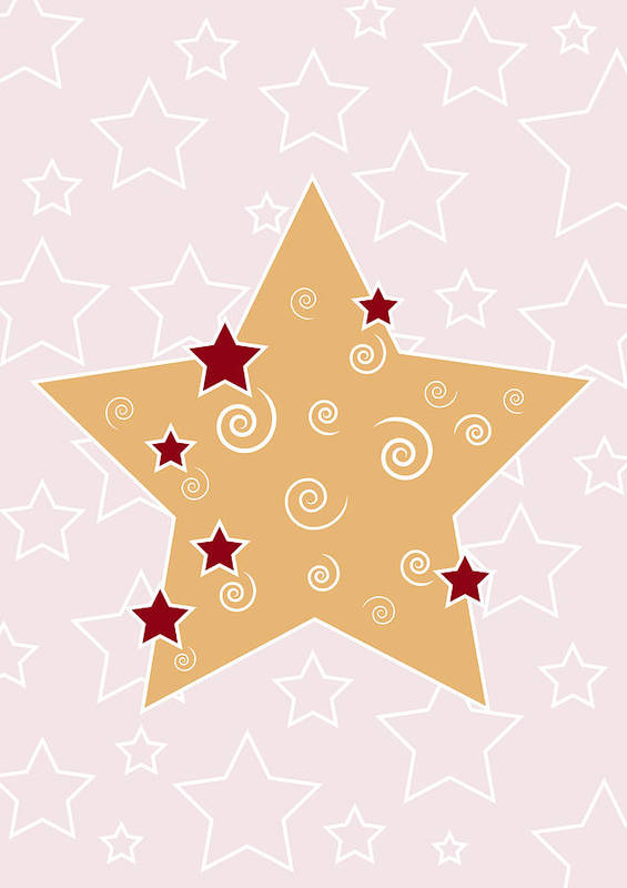 Christmas Print featuring the painting Christmas Star by Frank Tschakert