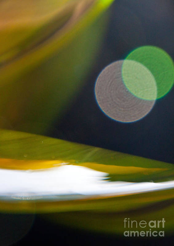 Abstract Print featuring the photograph Green And Gold Abstract by Dana Kern