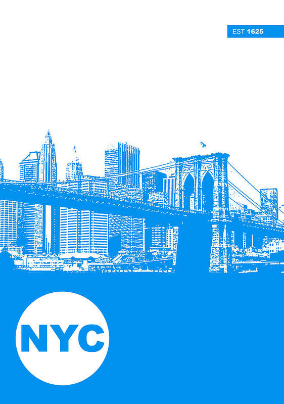 Print featuring the photograph New York Poster by Naxart Studio