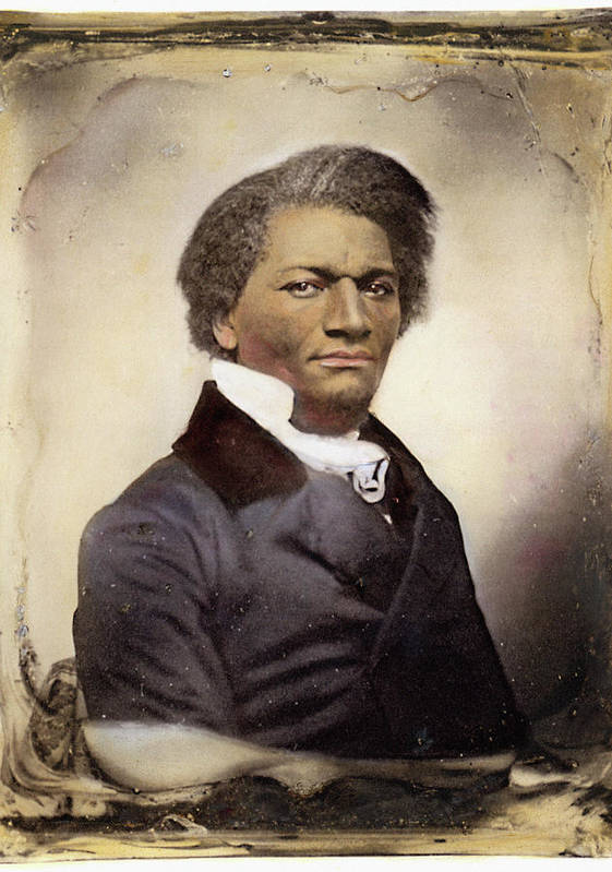 1885 Print featuring the photograph Frederick Douglass by Granger