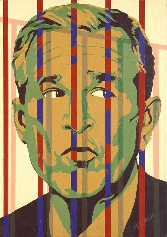 Neocon Print featuring the painting Bush by Dennis McCann