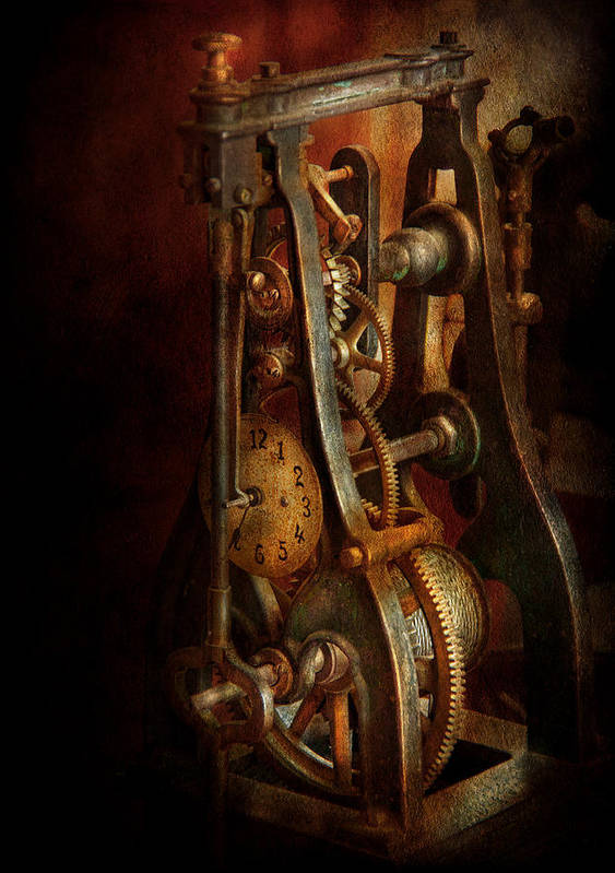 Hdr Print featuring the photograph Clockmaker - Careful I Bite by Mike Savad