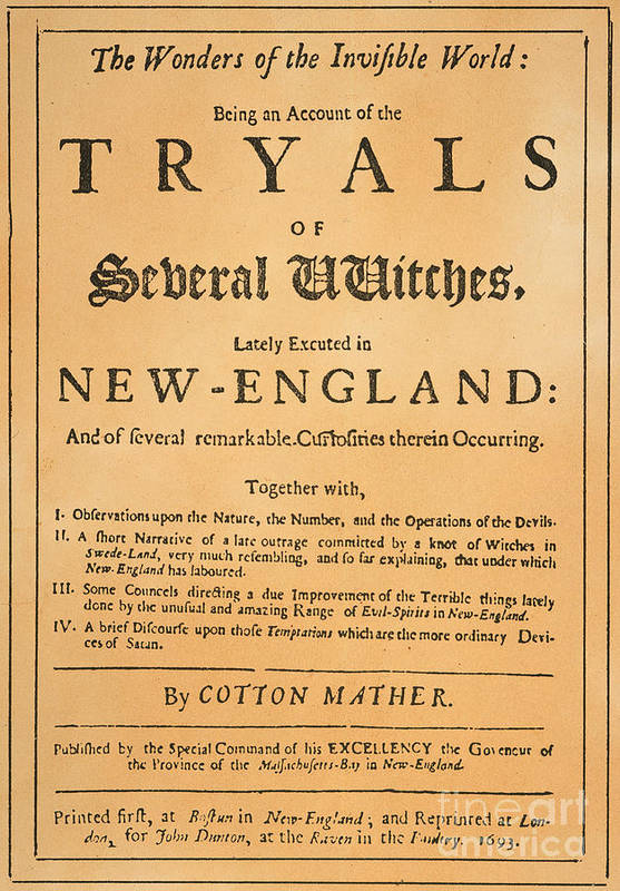 1693 Print featuring the photograph Cotton Mather, 1693 by Granger