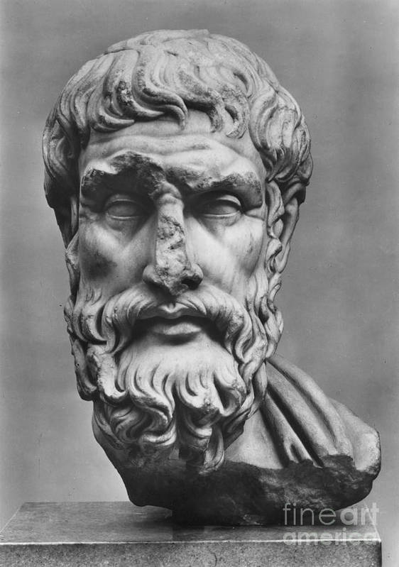 3rd Century B.c Print featuring the photograph Epicurus (342?-270 B.c.) by Granger