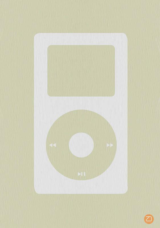 Ipod Print featuring the photograph iPod by Naxart Studio