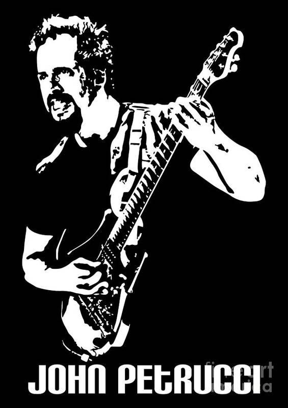 John Petrucci Print featuring the digital art John Petrucci No.01 by Caio Caldas