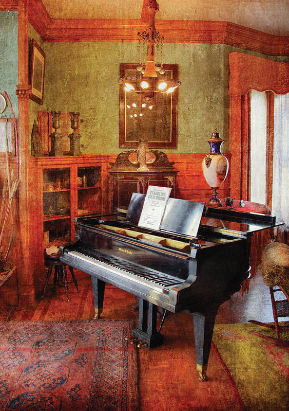 Savad Print featuring the photograph Music - Piano - It's A Long Long Way To Tipperary by Mike Savad