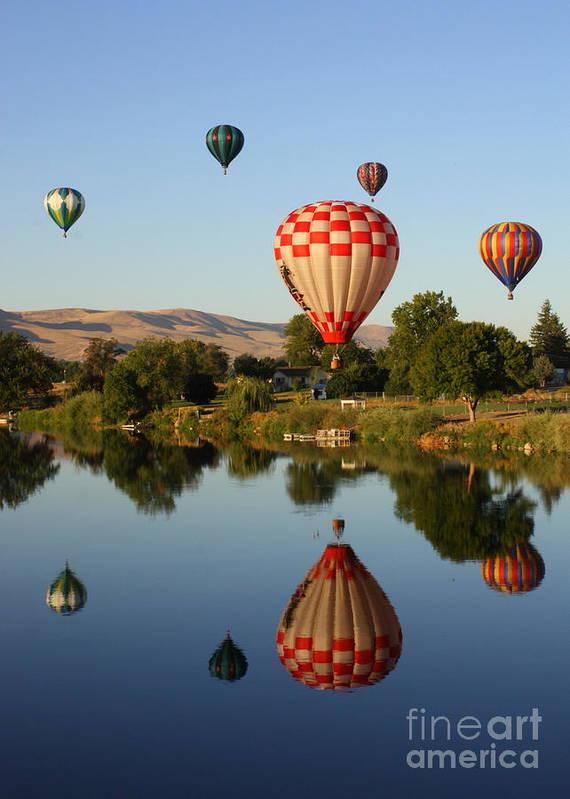 Balloon Print featuring the photograph Beautiful Balloon Day by Carol Groenen