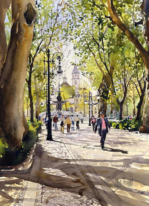 Cuesta Genil Print featuring the painting Cuesta Genil by Margaret Merry