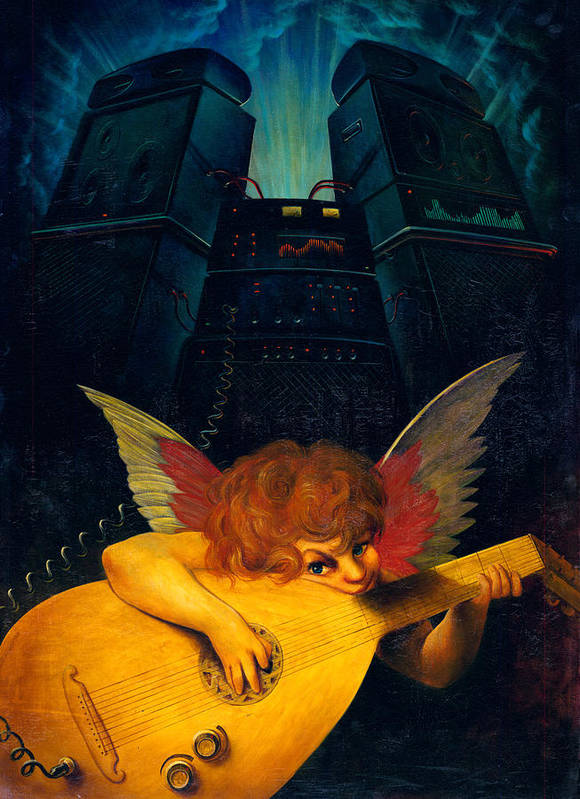 Angel Print featuring the photograph Electric Lute by Garry Walton
