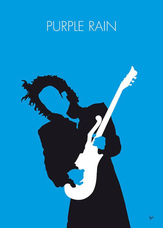 Prince Print featuring the digital art No009 My Prince Minimal Music Poster by Chungkong Art