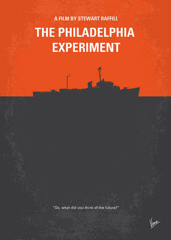 Philadelphia Print featuring the digital art No126 My The Philadelphia Experiment Minimal Movie Poster by Chungkong Art