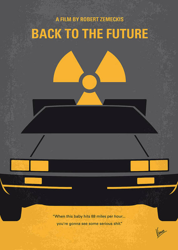 Back Print featuring the digital art No183 My Back To The Future Minimal Movie Poster by Chungkong Art