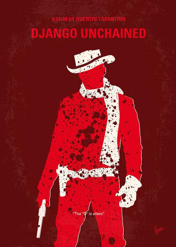 Django Print featuring the digital art No184 My Django Unchained Minimal Movie Poster by Chungkong Art