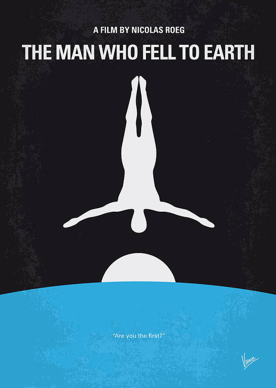 Man Print featuring the digital art No208 My The Man Who Fell To Earth Minimal Movie Poster by Chungkong Art