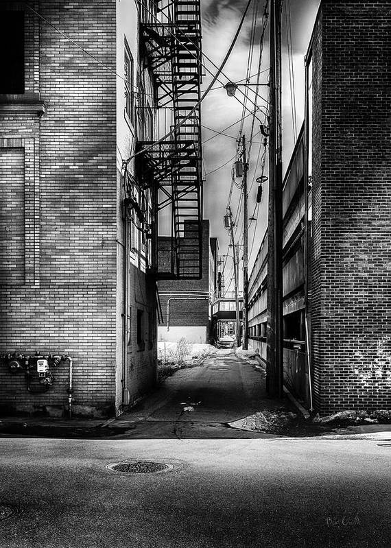 Alley Print featuring the photograph Park Alley Sunset by Bob Orsillo