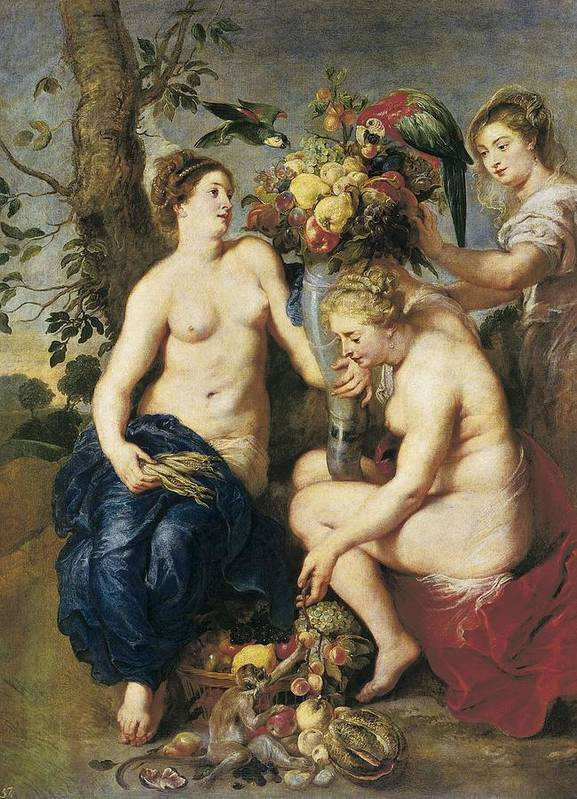 Vertical Print featuring the photograph Rubens, Peter Paul 1577-1640. Ceres by Everett