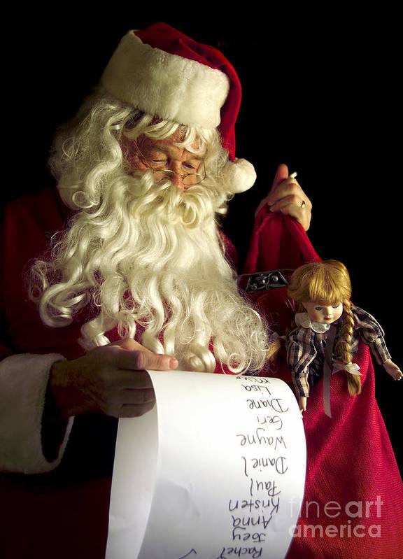 Santa Claus Print featuring the photograph Santa Claus by Diane Diederich