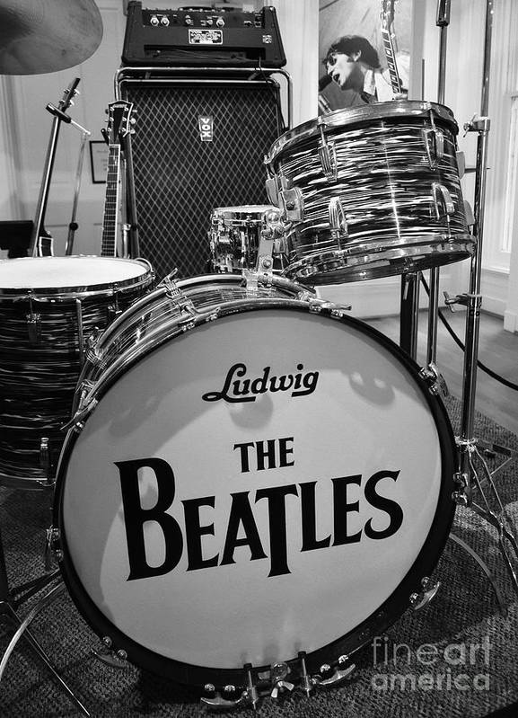 The Beatles Print featuring the photograph The Beat Goes On by Mel Steinhauer