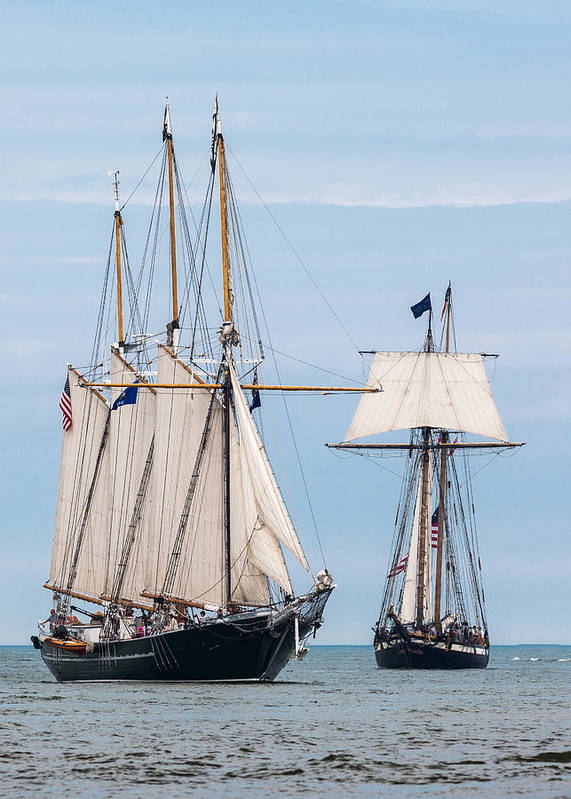 Tall Ships Print featuring the photograph The Tall Ships by Dale Kincaid