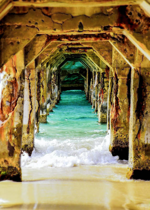 Waterscapes Print featuring the photograph Tranquility Below by Karen Wiles