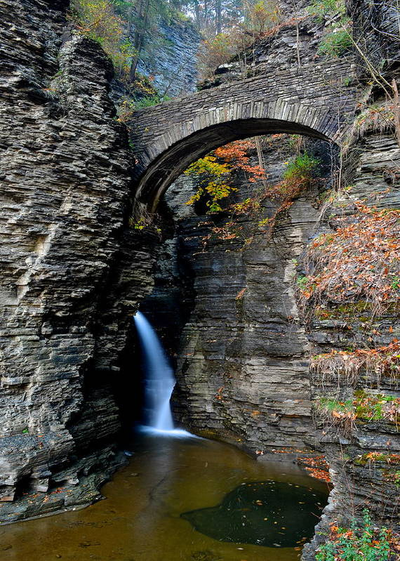 Entrance Print featuring the photograph Watkins Glen Entrance by Frozen in Time Fine Art Photography