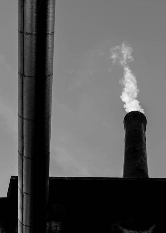Smoke Print featuring the photograph White Smoke by Bob Orsillo