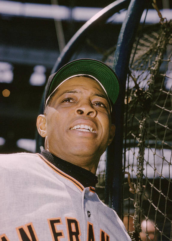 Marvin Newman Print featuring the photograph Willie Mays by Retro Images Archive