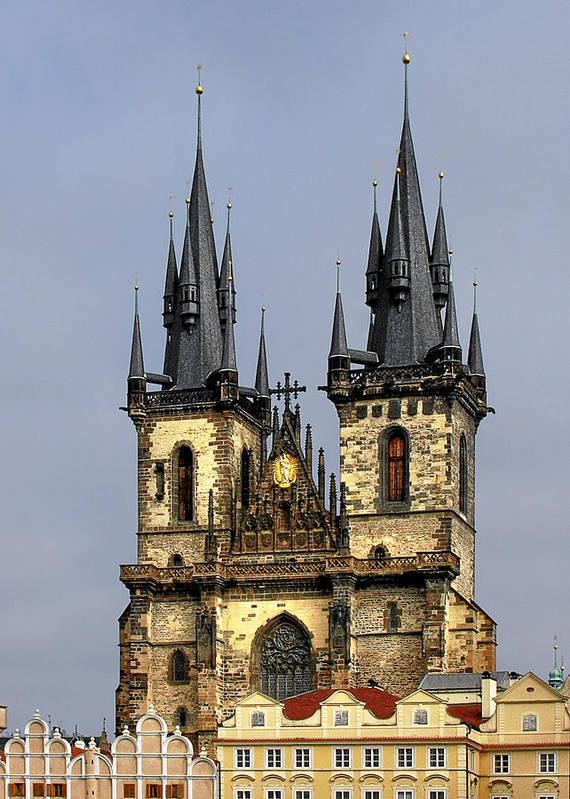 Tyn Church Print featuring the photograph Church Of Our Lady Before Tyn - Prague Cz by Christine Till