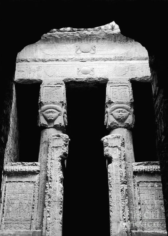 Temple Print featuring the photograph Temple Of Hathor by Photo Researchers, Inc.