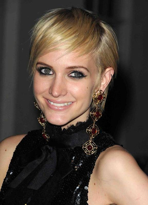 Ashlee Simpson Print featuring the photograph Ashlee Simpson Wearing Vintage Chanel by Everett