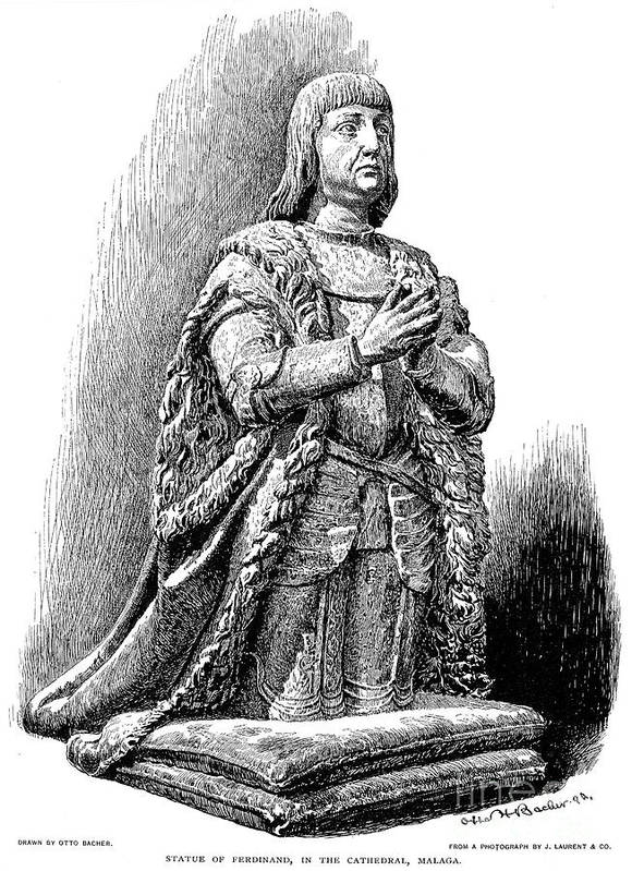 15th Century Print featuring the photograph Ferdinand V Of Castile (1452-1516) by Granger