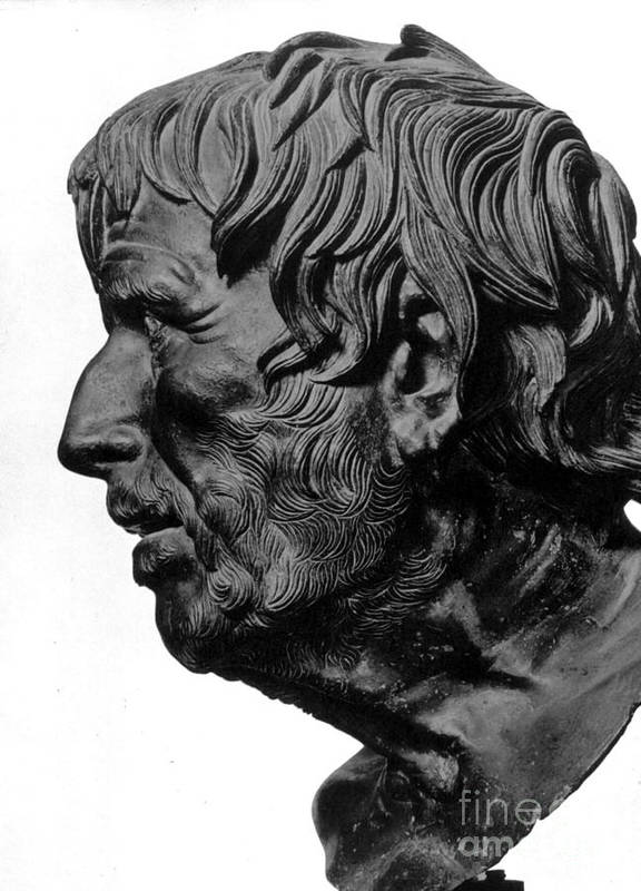 2nd Century B. C. Print featuring the photograph Pseudo-seneca by Granger