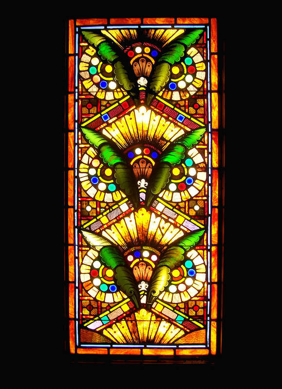 Stained Glass Print featuring the photograph Feathered Folly by Donna Blackhall
