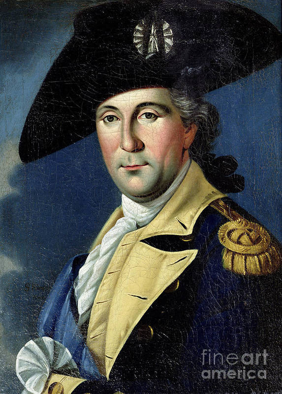 George Print featuring the painting George Washington by Samuel King