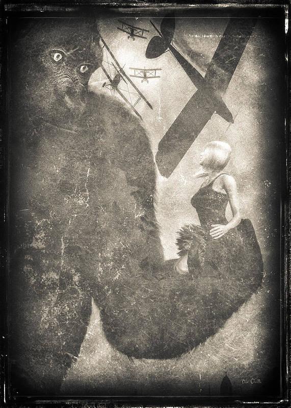 King Kong Print featuring the digital art King Kong by Bob Orsillo