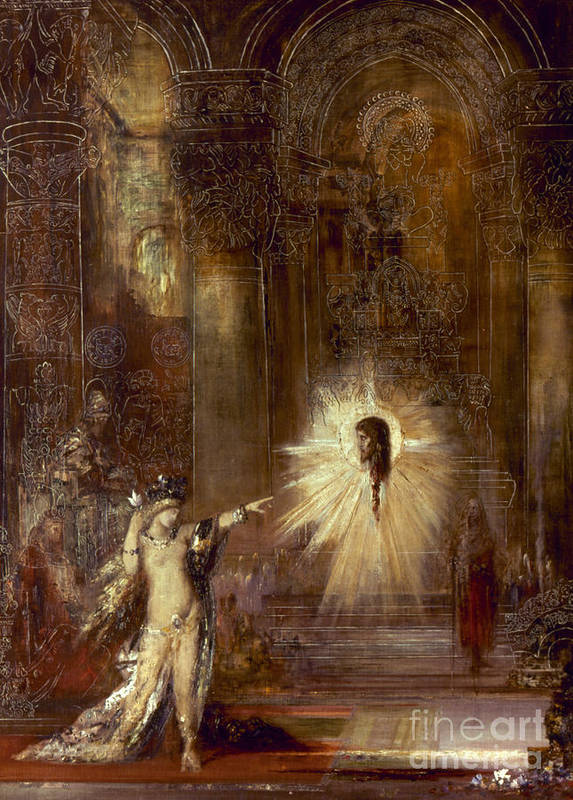 1876 Print featuring the painting Moreau: Apparition, 1876 by Granger