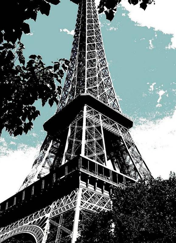 Europe Print featuring the photograph Tour Eiffel by Juergen Weiss