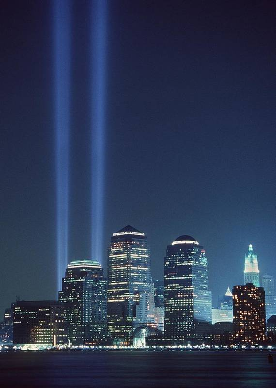 2000s Print featuring the photograph Tribute Of Light Represents The Fallen by Everett