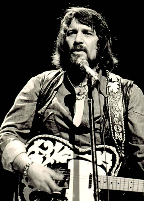 Beard Print featuring the photograph Waylon Jennings In Concert, C. 1976 by Everett
