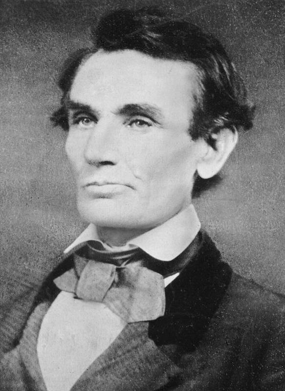 Male Print featuring the photograph Abraham Lincoln by Unknown
