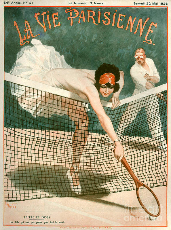 France Print featuring the drawing 1920s France La Vie Parisienne Magazine by The Advertising Archives