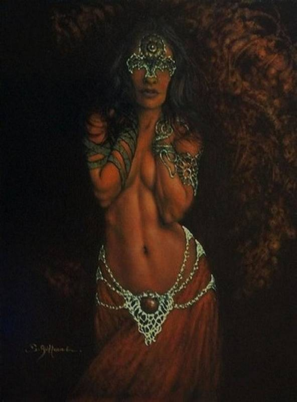 Celtic Spirit Print featuring the painting Celtic Spirit by Guillaume Bruno
