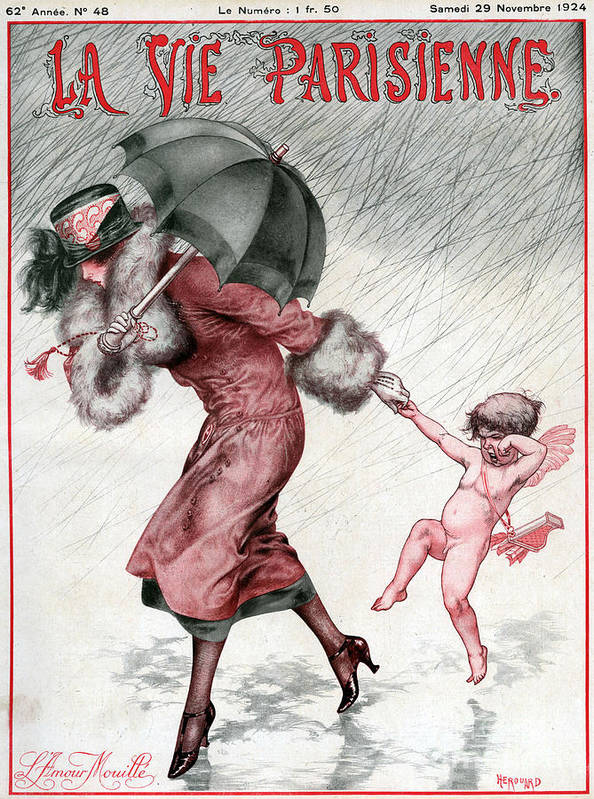 French Print featuring the drawing La Vie Parisienne 1924 1920s France by The Advertising Archives