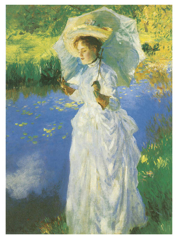 John Singer Sargent Print featuring the painting A Morning Walk by John Singer Sargent