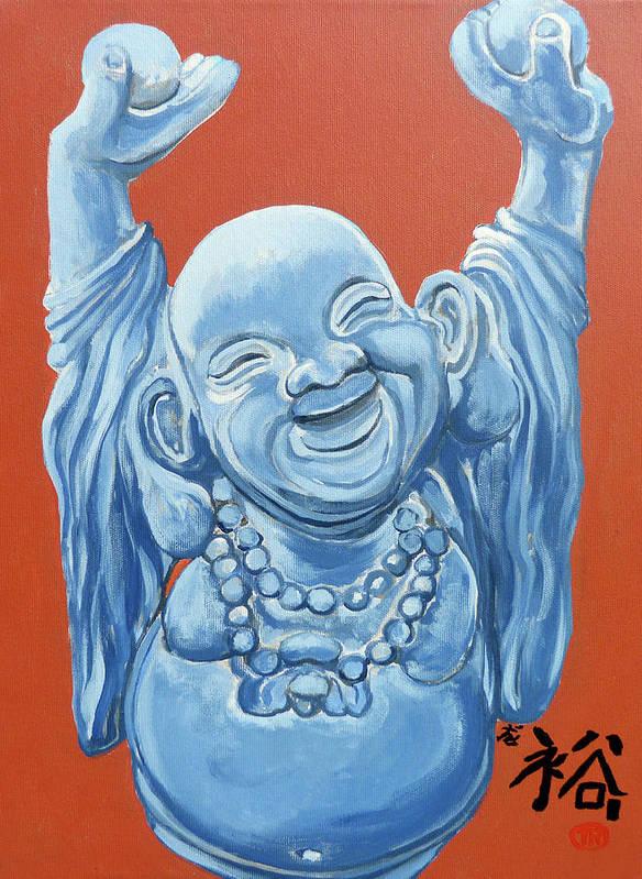 Buddha Print featuring the painting Abundance by Tom Roderick